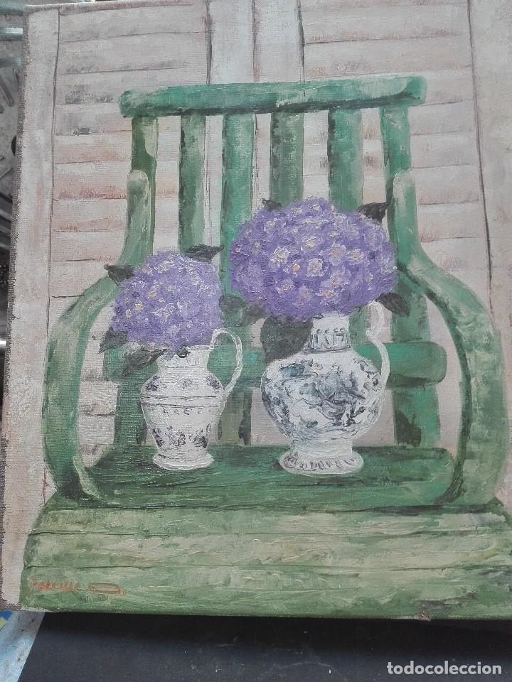 NATURALEZA MUERTA CUADRO DE 38 X 46 FIRMADO POR FELICIUC (Arte - Pintura - Pintura al Óleo Antigua sin fecha definida)