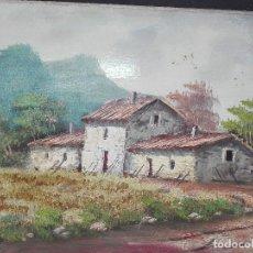 Arte: PAISAJE CASAS EN MEDIO NATURALEZA MEDIDAS 30 X 40. Lote 119626039