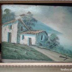 Arte: PAISAJE CASAS EN MEDIO NATURALEZA MEDIDAS 30 X 25. Lote 119626335