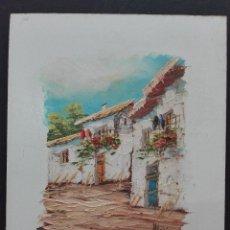 Arte: PINTURA AL ÓLEO SOBRE BASE DE MADERA MEDIDAS 27 POR 22. Lote 119634459
