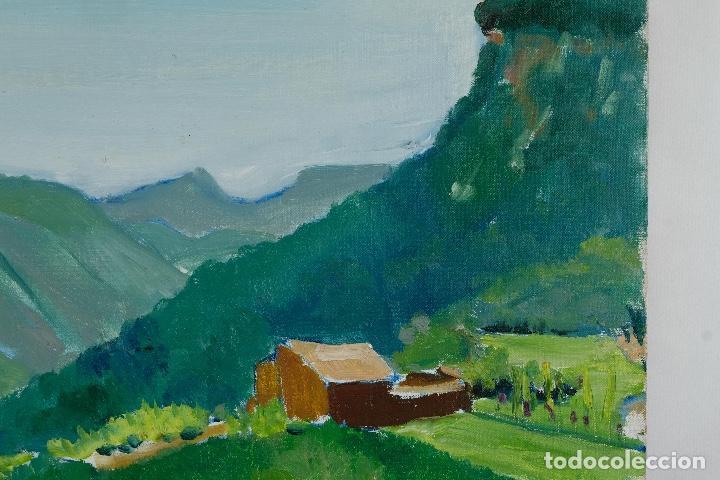 Arte: Rafel Serrahima óleo sobre lienzo Paisaje firmado mediados siglo XX - Foto 4 - 119697283