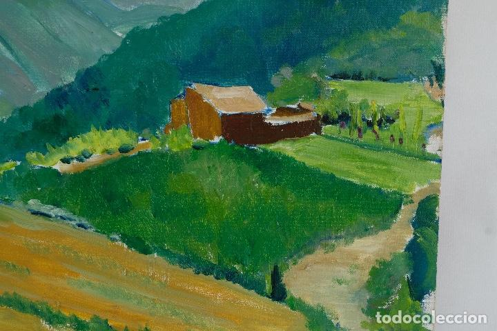 Arte: Rafel Serrahima óleo sobre lienzo Paisaje firmado mediados siglo XX - Foto 5 - 119697283