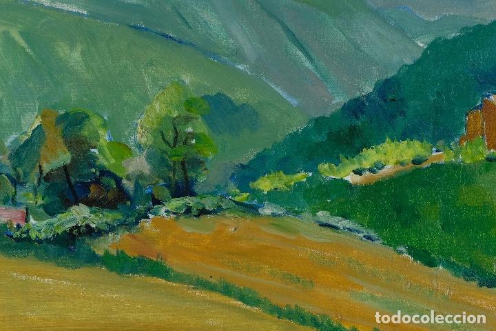 Arte: Rafel Serrahima óleo sobre lienzo Paisaje firmado mediados siglo XX - Foto 6 - 119697283