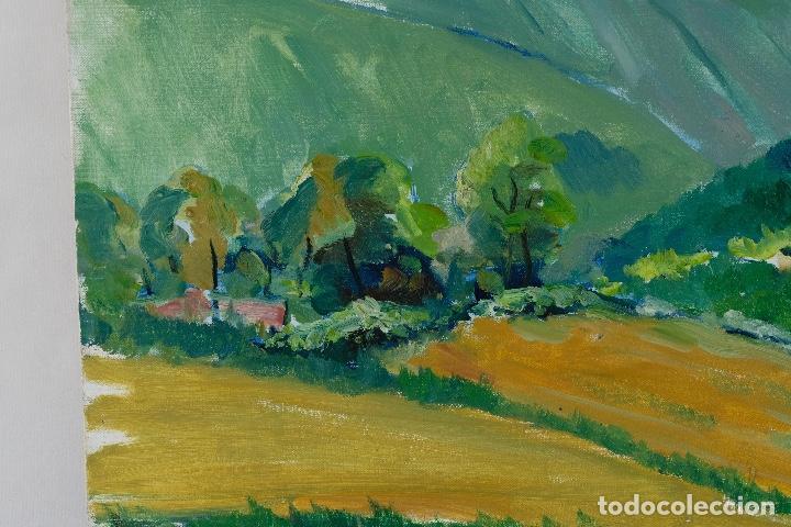 Arte: Rafel Serrahima óleo sobre lienzo Paisaje firmado mediados siglo XX - Foto 7 - 119697283