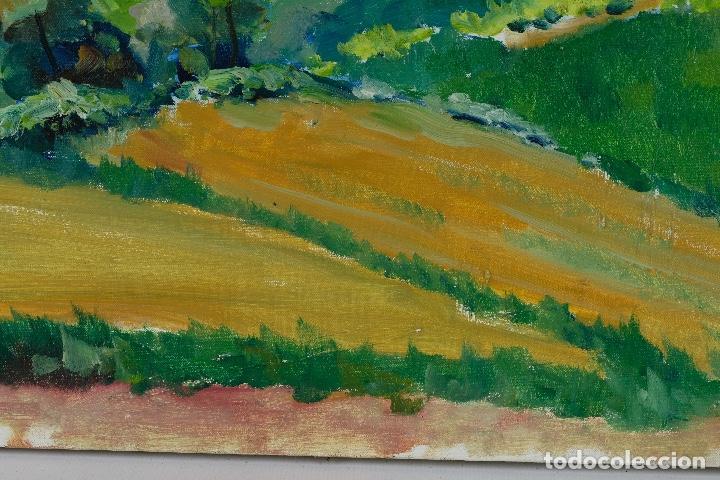 Arte: Rafel Serrahima óleo sobre lienzo Paisaje firmado mediados siglo XX - Foto 8 - 119697283