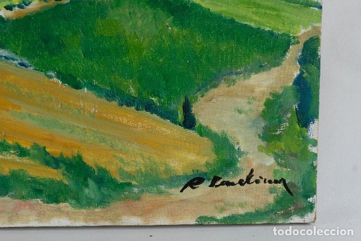 Arte: Rafel Serrahima óleo sobre lienzo Paisaje firmado mediados siglo XX - Foto 9 - 119697283