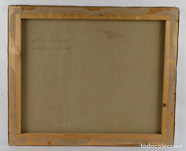 Arte: Rafel Serrahima óleo sobre lienzo Paisaje firmado mediados siglo XX - Foto 10 - 119697283