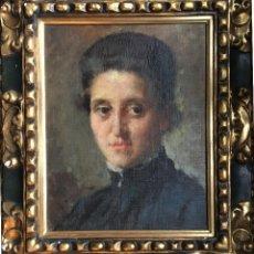 Arte: ARNALDO FERRAGUTI (1862-1925) PINTOR ITALIANO - ÓLEO SOBRE TELA PEGADA A TABLA - RETRATO DE DAMA (18. Lote 119721475