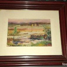 Art - XAVIER MARSA CASAS (1944) PINTURA EN ACUARELA PAISAJE RURAL - 119731975