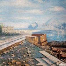 Arte: VIVIR JUNTO AL MAR, OLEO SOBRE LIENZO, FIRMADO. Lote 119774004