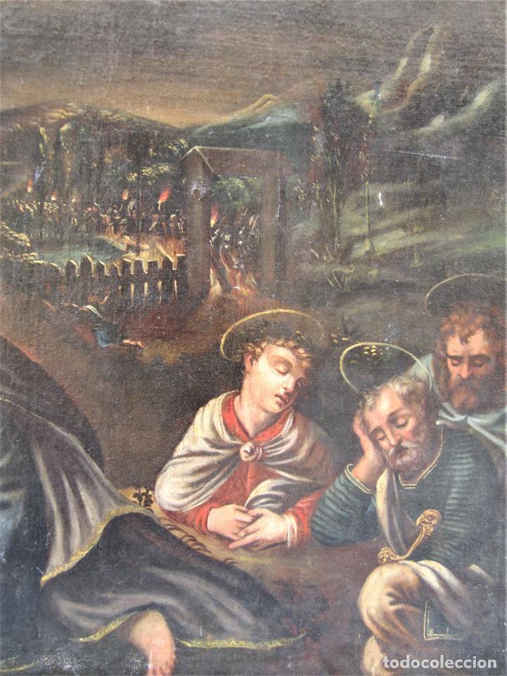 Arte: Escena religiosa, Jesús y arcángeles, pintura al óleo sobre tela. 137x97cm - Foto 3 - 119855615