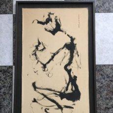 Arte: MANUEL CHABRERA ADIEGO , ÓLEO Y TINTAS SOBRE LIENZO DEL AÑO 1999 , TARRAGONA , SEVILLA. Lote 119869763