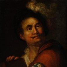 Arte - Óleo sobre lienzo retrato caballero escuela italiana siglo XVII - 119890171