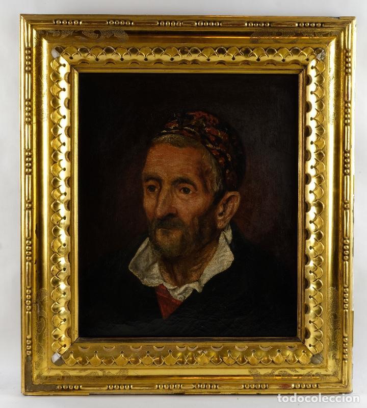 Arte: Óleo sobre lienzo retrato personaje aragonés principios siglo XIX escuela española - Foto 2 - 119890715