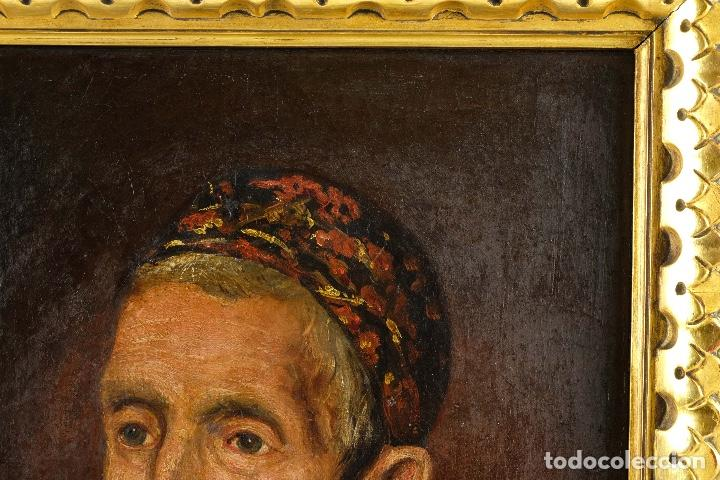 Arte: Óleo sobre lienzo retrato personaje aragonés principios siglo XIX escuela española - Foto 3 - 119890715