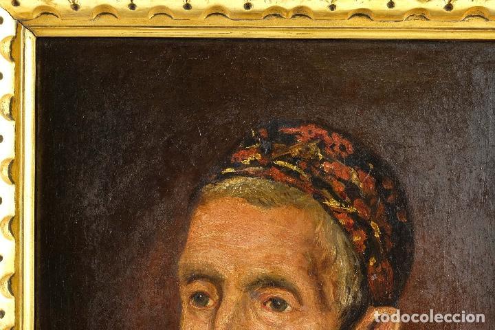 Arte: Óleo sobre lienzo retrato personaje aragonés principios siglo XIX escuela española - Foto 4 - 119890715