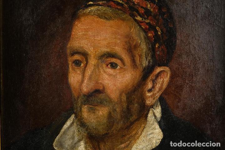 Arte: Óleo sobre lienzo retrato personaje aragonés principios siglo XIX escuela española - Foto 5 - 119890715
