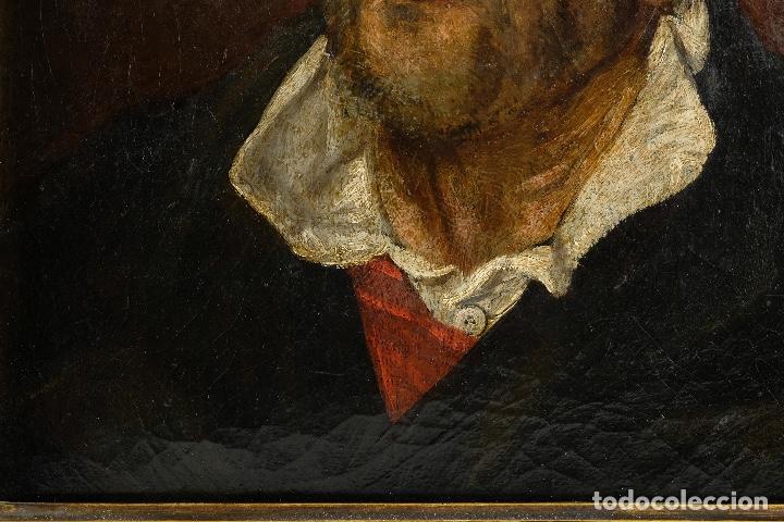 Arte: Óleo sobre lienzo retrato personaje aragonés principios siglo XIX escuela española - Foto 6 - 119890715
