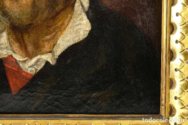 Arte: Óleo sobre lienzo retrato personaje aragonés principios siglo XIX escuela española - Foto 7 - 119890715