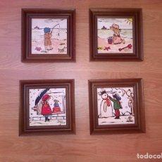 Arte: LOTE DE 4 CUADROS ESTACIONES AÑOS 80. Lote 119919888