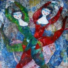 Arte: LUCIANO SPAZZALI (ITALIA 1911-1997), PRECIOSA Y MAGNIFICA PINTURA (GRANDE) FIRMADA.. Lote 119936935