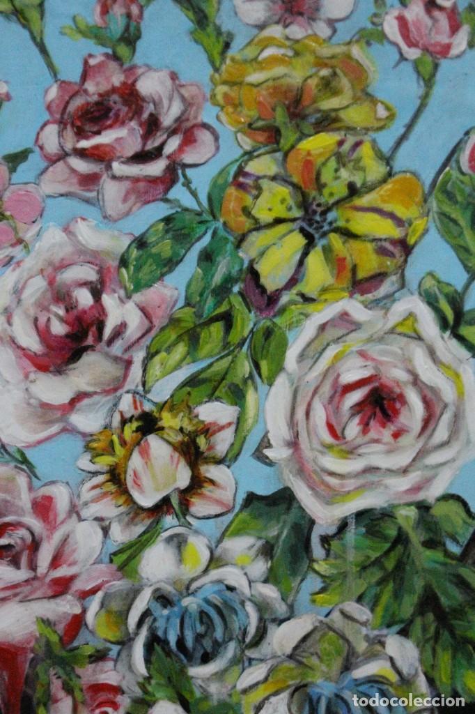Arte: /Somete el oído al silencio de las flores/ Pintura sobre Partituras de música antiguas y lino. - Foto 5 - 118898363
