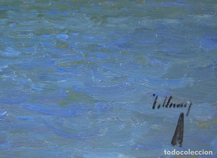 Arte: JOSE LUIS CHECA GALINDO. OLEO SOBRE TABLA 16x27. VENECIA. ELIGE MARCO A TU GUSTO. ENVIO GRATIS. - Foto 4 - 119988147