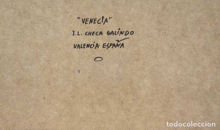 Arte: JOSE LUIS CHECA GALINDO. OLEO SOBRE TABLA 16x27. VENECIA. ELIGE MARCO A TU GUSTO. ENVIO GRATIS. - Foto 5 - 119988147