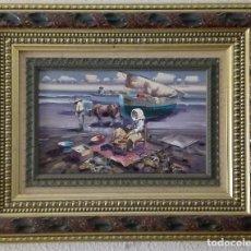 Arte: OLEO PESCADORES JOSE GONZALEZ.. Lote 120026631