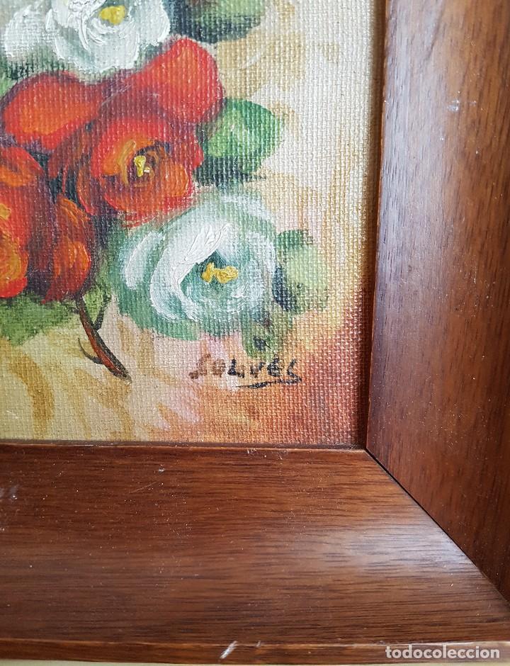 pequeño cuadro al oleo enmarcado - firmado p - Comprar Pintura al ...