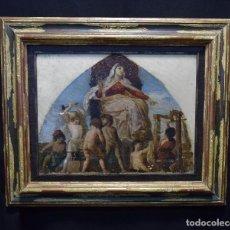 Arte: BONITA ALEGORÍA A LA INDUSTRIA, OLEO SOBRE TELA, ENMARCADO MIDE 47,5 X 57 CM. DESCONOCIDO SIN FIRMA. Lote 120081423