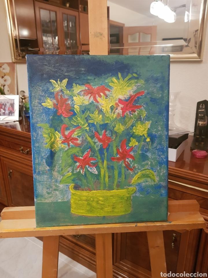 Arte: Pintura original del autor. Técnica mixta. Flores - Foto 2 - 120122111