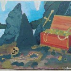 Arte: ANTONI MARTÍ (COLÒNIA GUIXARÓ, 1960) - OLEO SOBRE PAPEL - 30 X 21 - CERTIFICADO. Lote 119215219