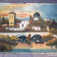 Arte: OLEO SOBRE CARTON. PAISAJE MEDITERRANEO (H.1940?). Lote 120138911