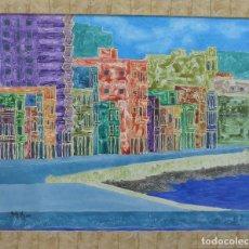 Arte: MALECON DE LA HABANA. OLEO SOBRE LIENZO.. Lote 120187135