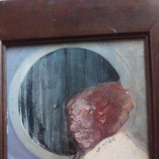 Arte: OLEO SOBRE TABLA REPRESENTANDO UN PERFIL MASCULINO. FIRMADO. ENMARCADO. Lote 120194759