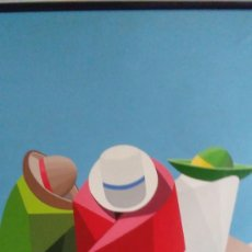 Arte: PINTURA AL ÓLEO SOBRE LIENZO REFORZADO CON TABLEX. FIRMADA ROBERTO BENITES. LIMA. PERÚ. Lote 120197275