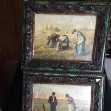 Arte: MILLET, EL ANGELUS Y LAS ESPIGADORAS (REPRODUCCIÓN). Lote 120296563