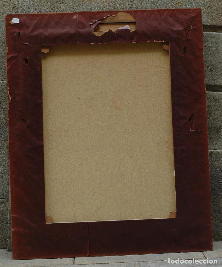 Arte: Mujer en habitación, firmado Vergara, pintura al óleo sobre tela. 116x95cm - Foto 5 - 120299195