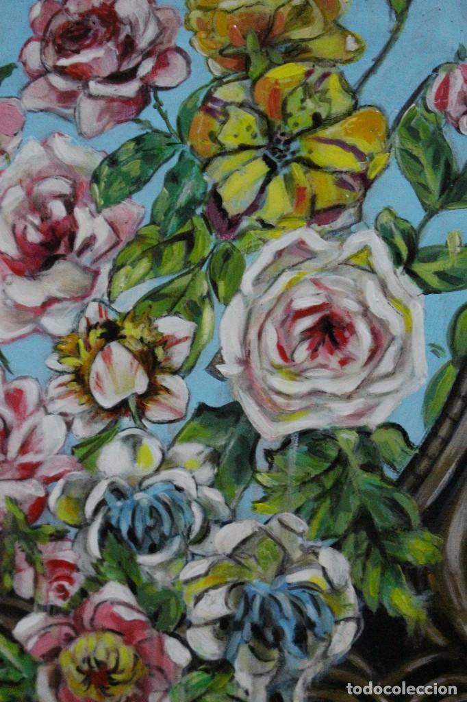Arte: /Somete el oído al silencio de las flores/ Pintura sobre Partituras de música antiguas y lino. - Foto 4 - 118898363