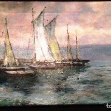 Arte: C.MIRANDA - PAISAJE MARÍTIMO. ÓLEO SOBRE LIENZO - FIRMADO - LIMITADA - SIN MARCO - 1890. Lote 120369179