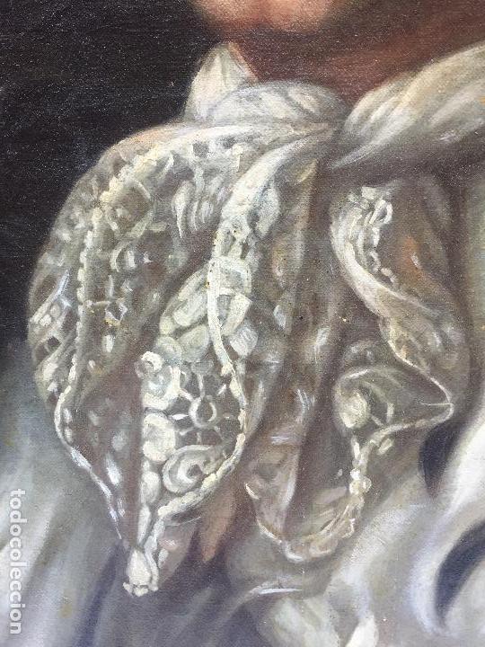 Arte: RETRATO DE CABALLERO , OLEO SOBRE LIENZO - Foto 4 - 120427547