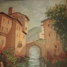 Arte: OLEO SOBRE TELA FIRMADO POR P. ROMERO,FECHADO 1999. Lote 120431939