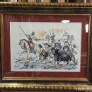 Arte: TOROS CRUZANDO EL RIO. LOPEZ CANITO. 50X35,8. RECIEN ENMARCADO.. Lote 58837821