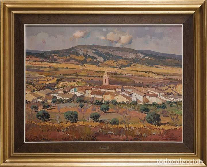 FRANCISCO CALABUIG GISBERT. LIENZO 63X65. PAISAJE DE BENIFALLIM (Arte - Pintura - Pintura al Óleo Contemporánea )