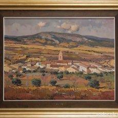 Arte: FRANCISCO CALABUIG GISBERT. LIENZO 63X65. PAISAJE DE BENIFALLIM. Lote 120584715