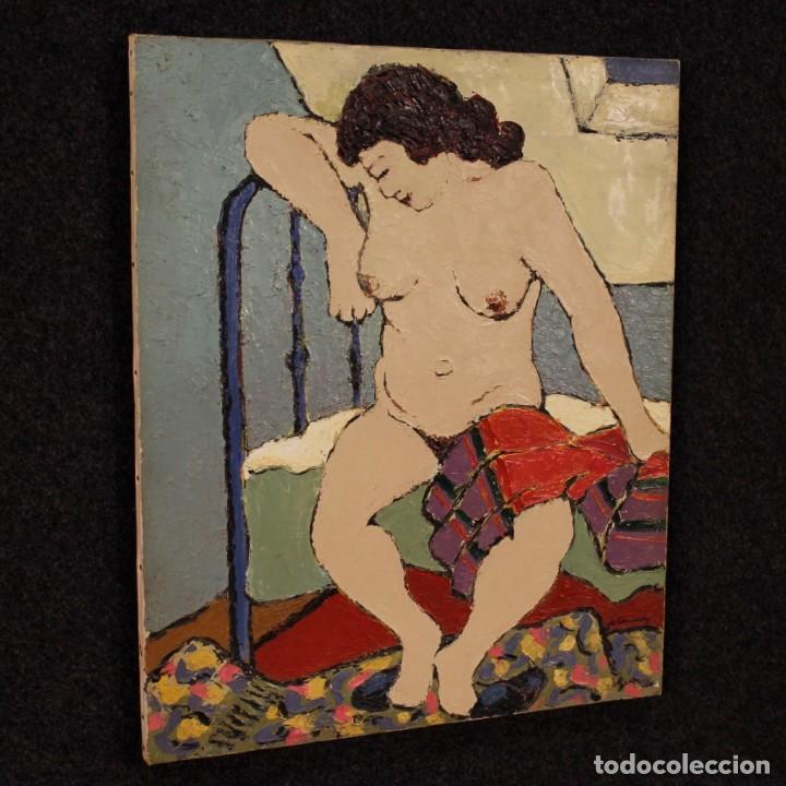 Arte: Pintura impresionista desnudo de mujer óleo sobre lienzo - Foto 7 - 120621071