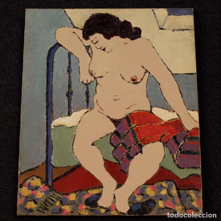 Arte: Pintura impresionista desnudo de mujer óleo sobre lienzo - Foto 10 - 120621071