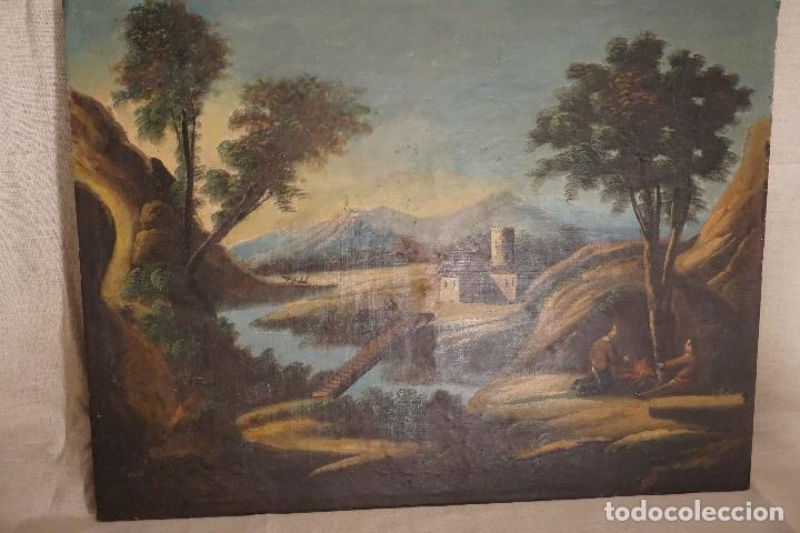 Arte: PAISAJE. ÓLEO SOBRE LIENZO. ESCUELA ESPAÑOLA. SIGLO XIX. - Foto 2 - 120665347