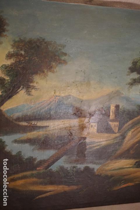 Arte: PAISAJE. ÓLEO SOBRE LIENZO. ESCUELA ESPAÑOLA. SIGLO XIX. - Foto 4 - 120665347